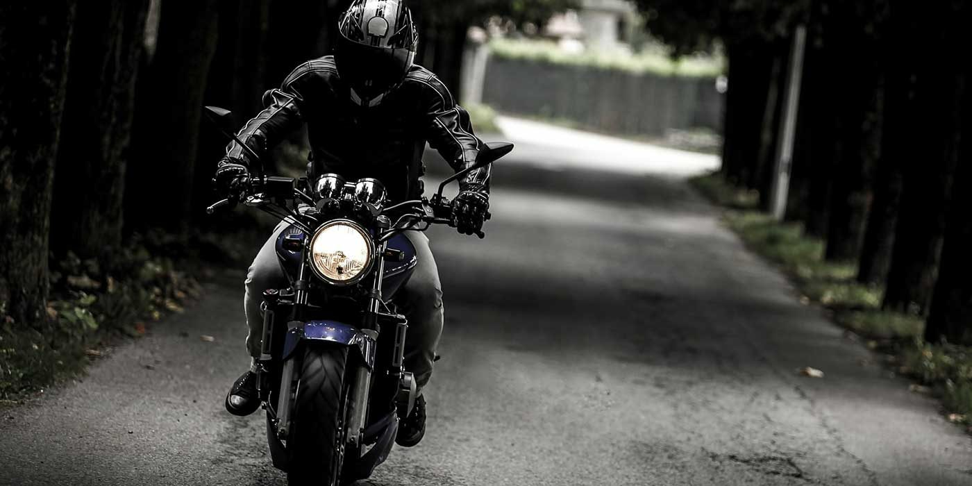 Photo of a motorbike on a road