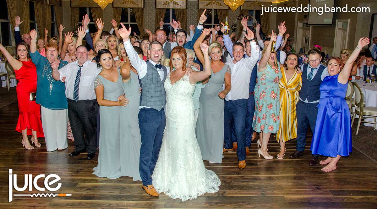 Photo of Charlene, Galbhan and their wedding guests