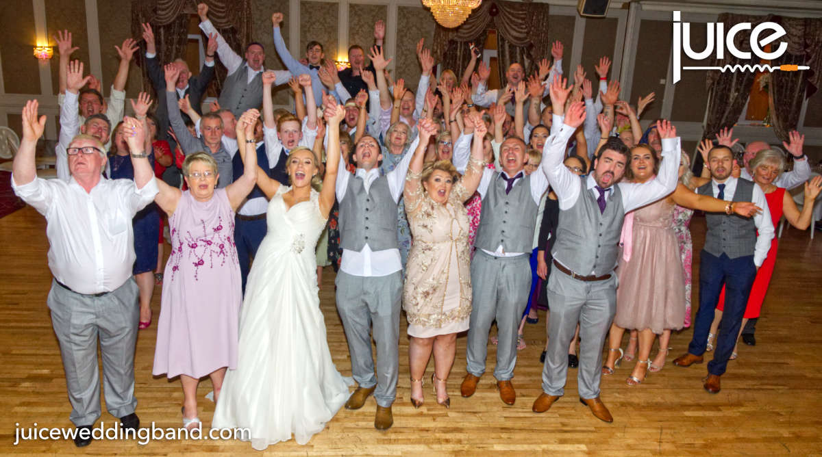 Photo of Bronagh, Darragh and their wedding guests