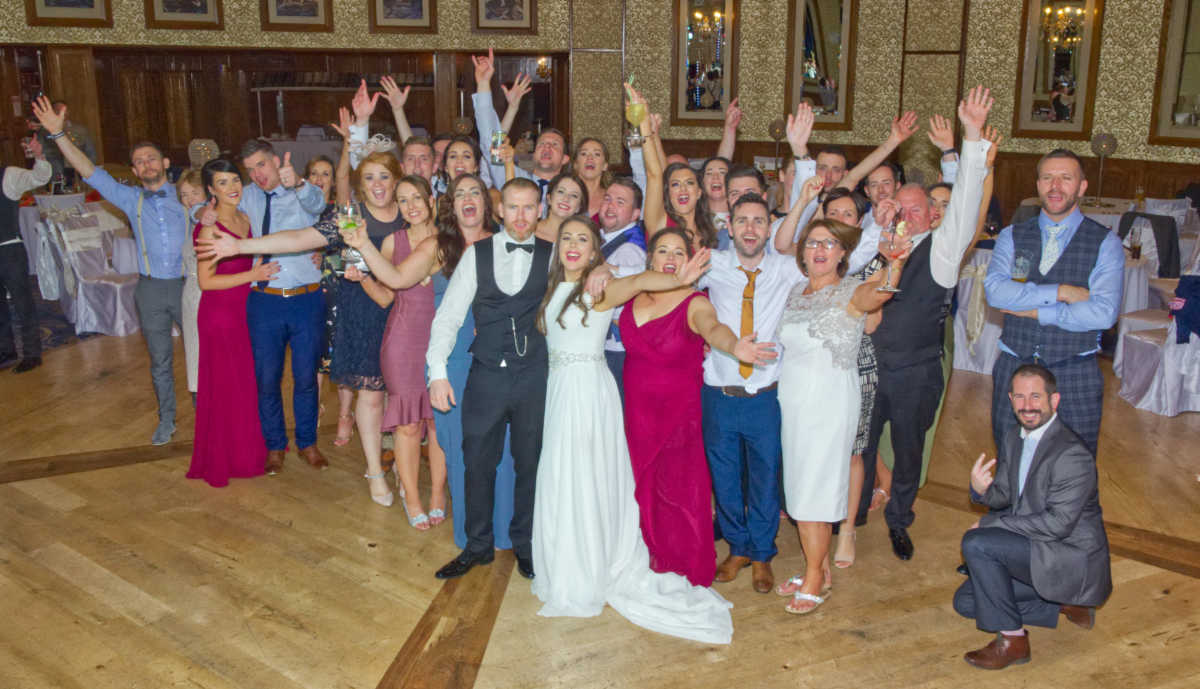 Photo of Eilise, Kieran and their wedding guests