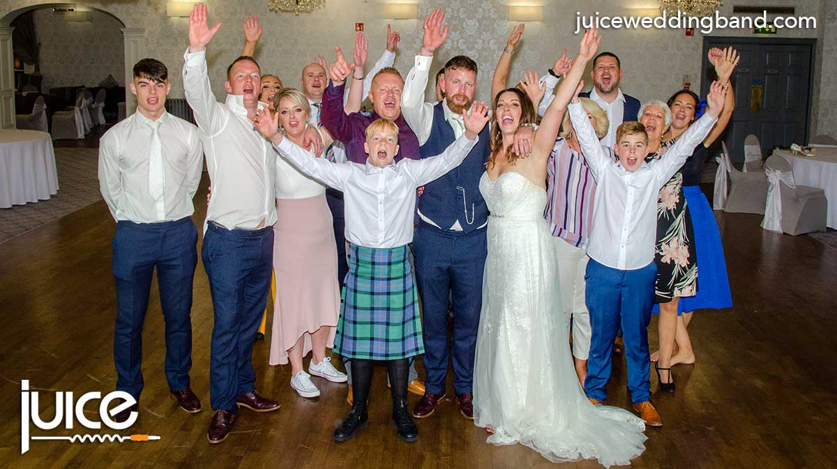 Photo of Lorna, Dean and their wedding guests
