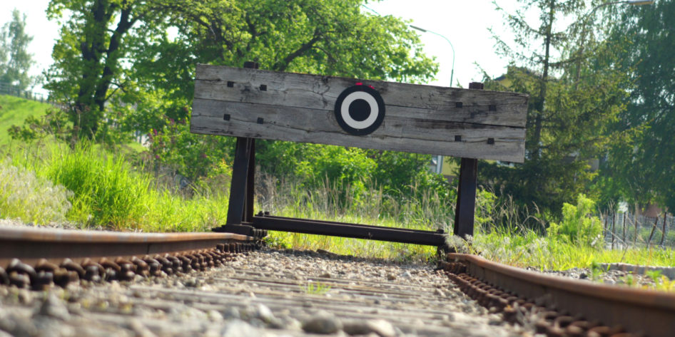 Photo of the end of train tracks