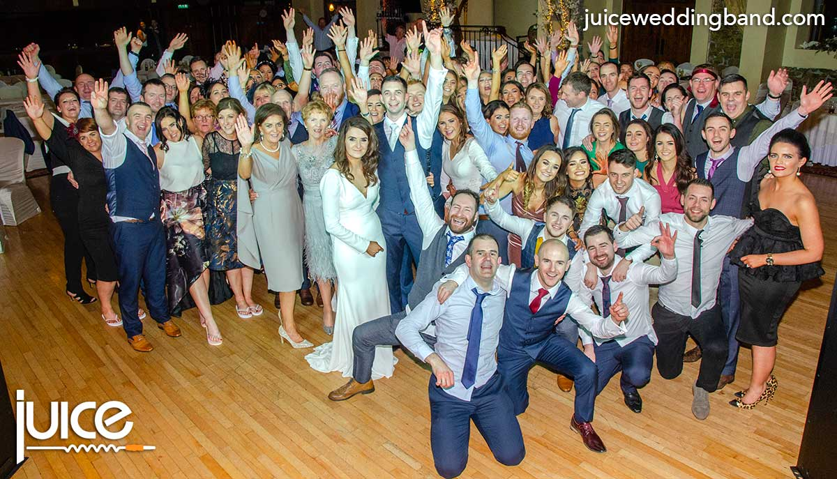 Photo of Sinead, Matthew and their wedding guests