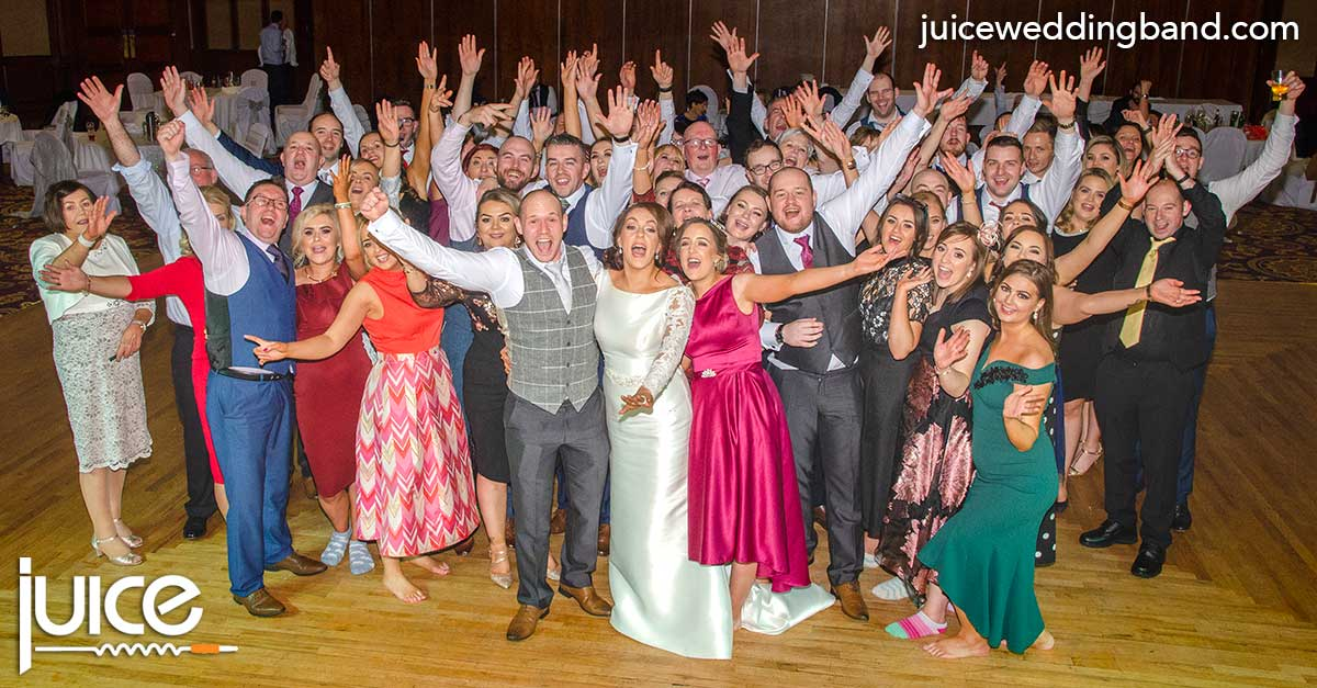 Photo of Sharon, Caolan and their wedding guests