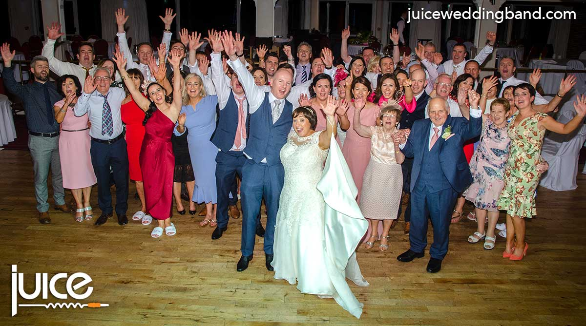 Photo of Anne Marie, Sean and their wedding guests