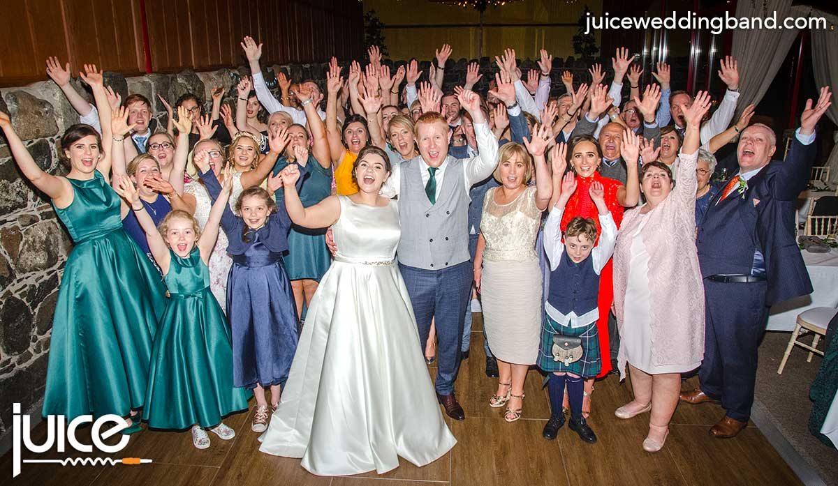 Photo of Niamh, Sean and their wedding guests