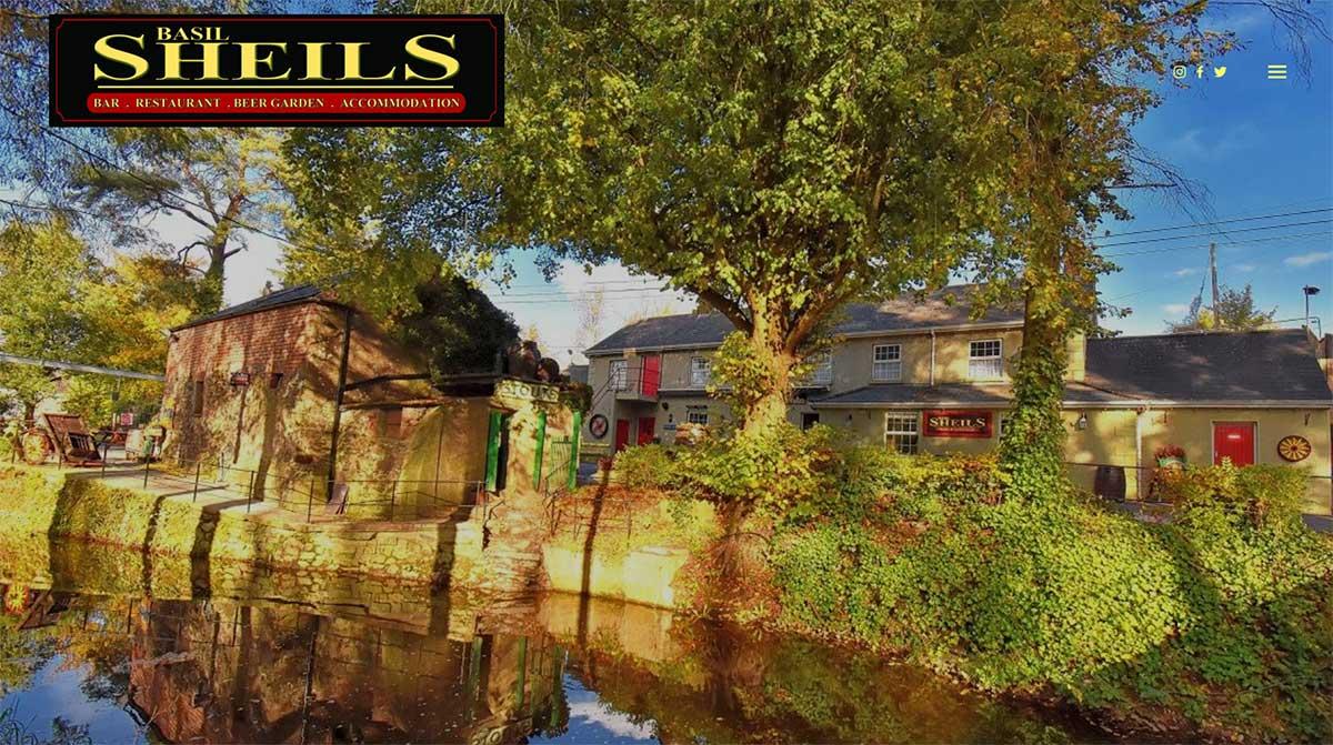 Screenshot of the Basil Sheils wedding venue Tassagh Keady Armagh website