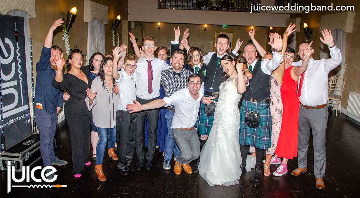 Photo of Katie, Christopher and their wedding guests