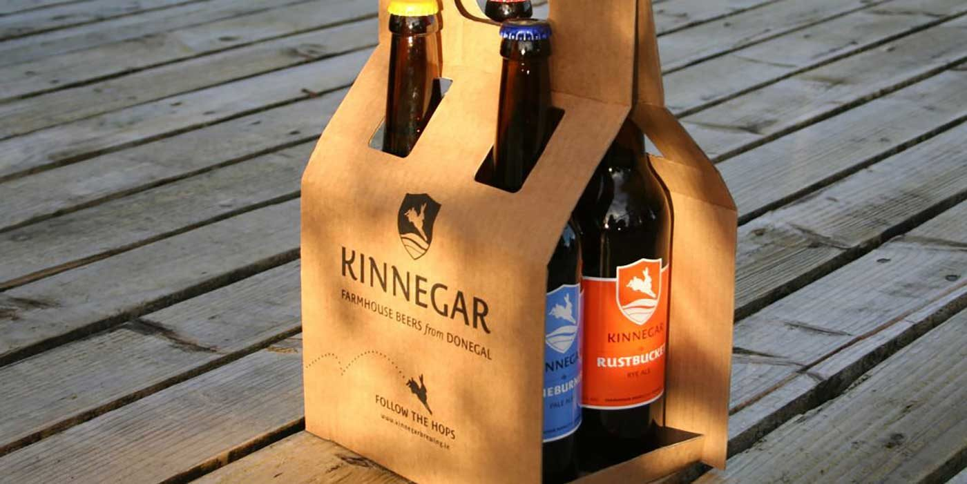 Photo of four bottles of Kinnegar beer