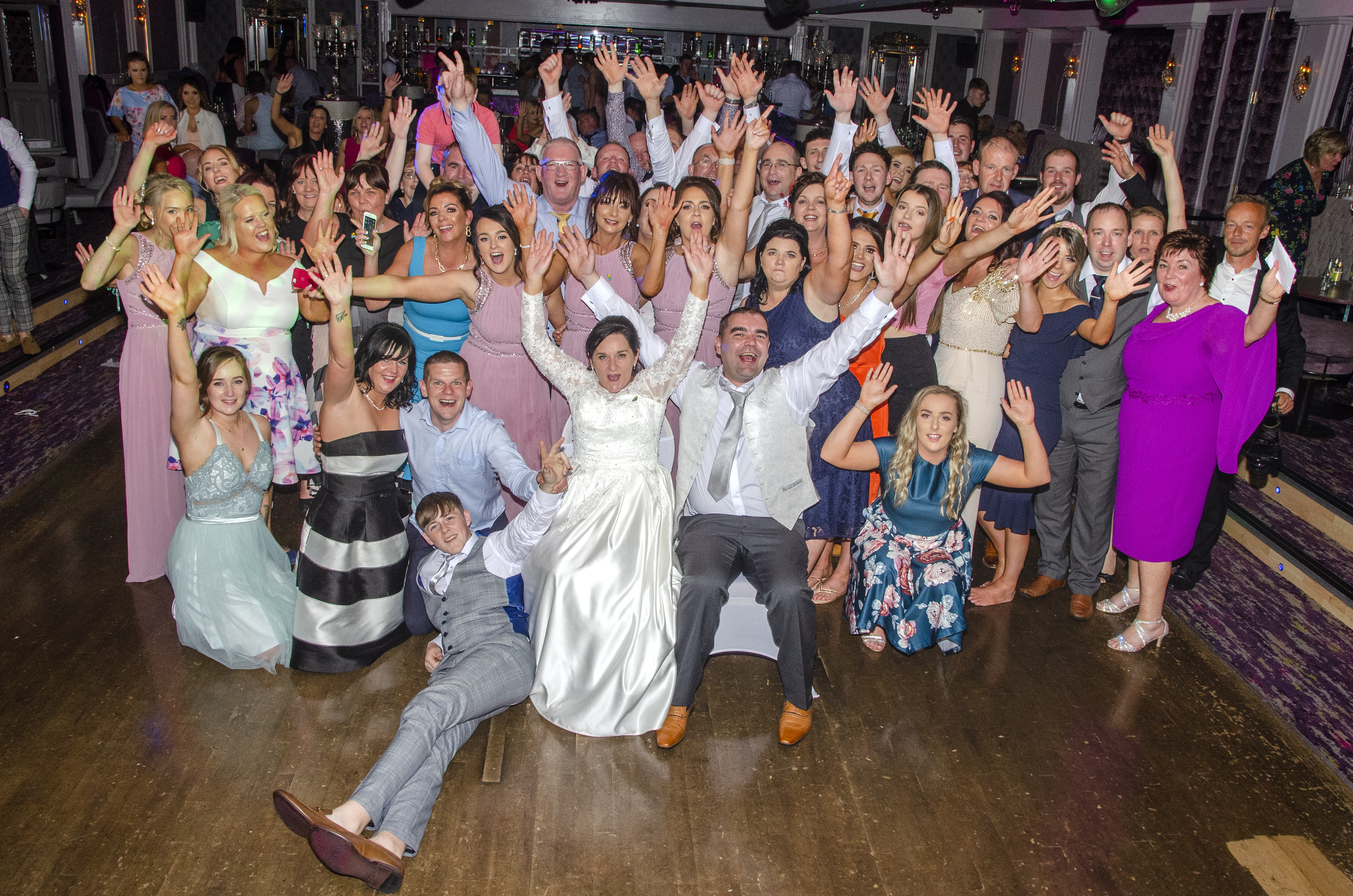 Photo of Trish, Emmet and their wedding guests