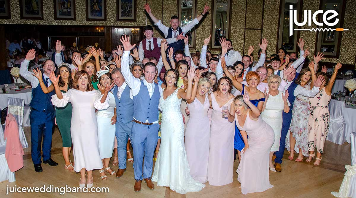 Photo of Ciara, Darren and their wedding guests