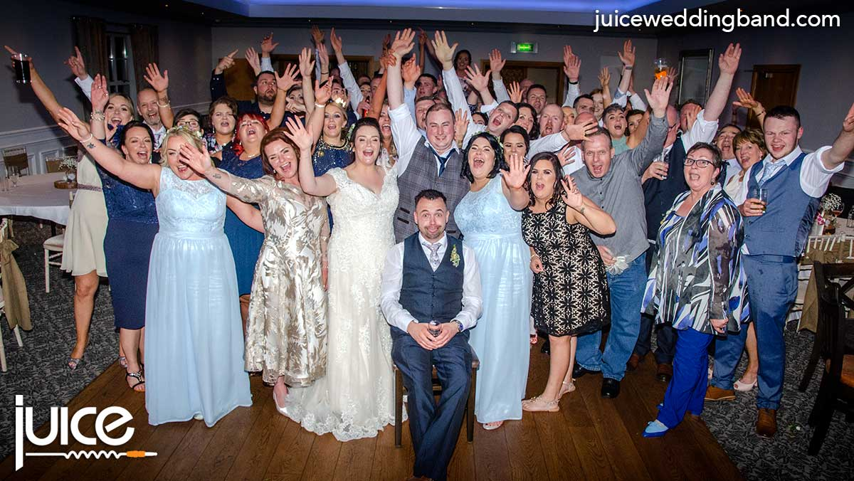Photo of Gemma, Ryan and their wedding guests