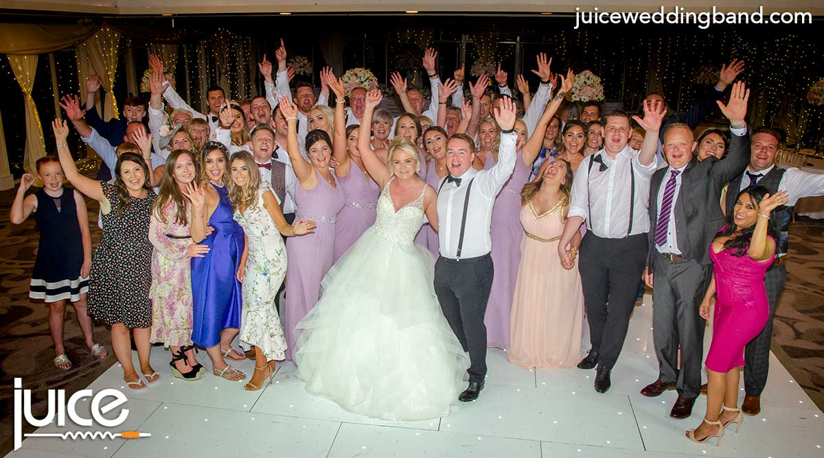 Photo of Jacqueline, Calum and their wedding guests