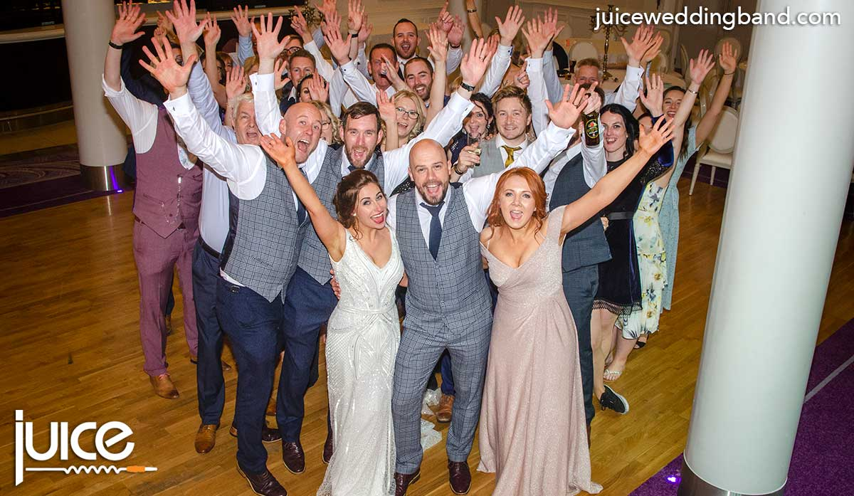 Photo of Alysha, Scott and their wedding guests