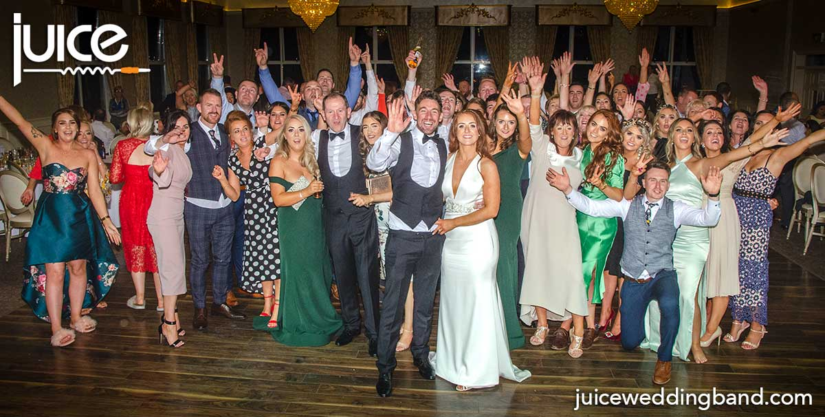 Photo of Eimear, Conor and their wedding guests