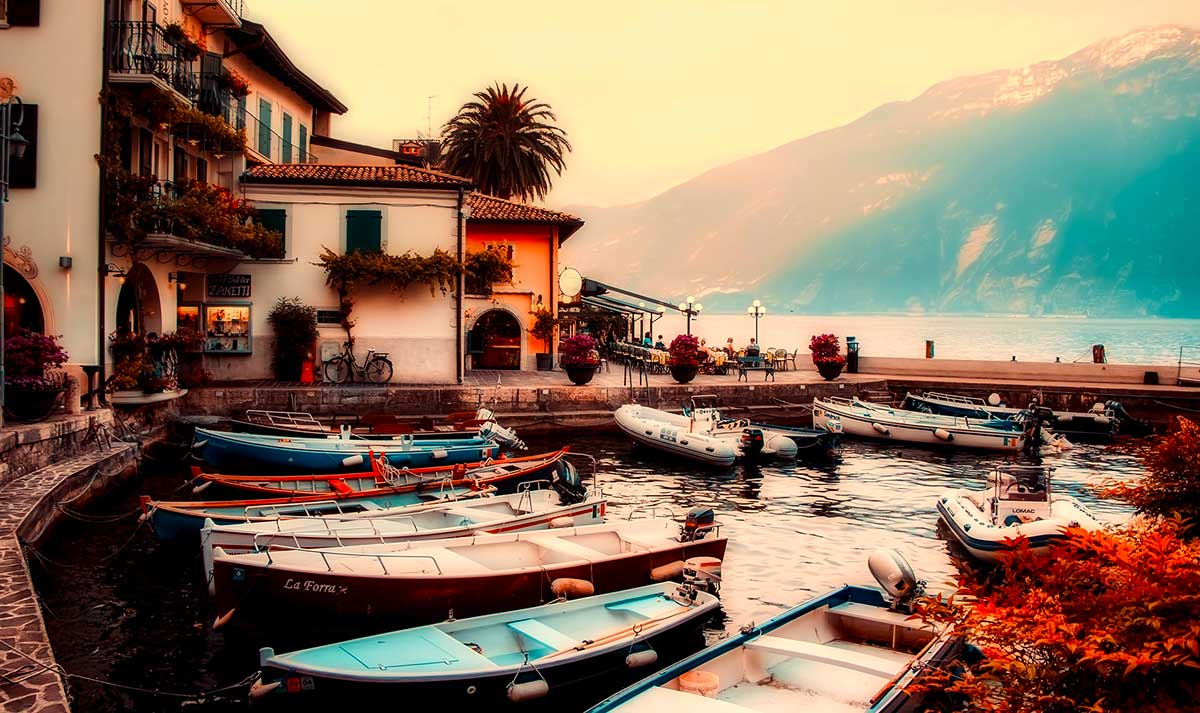 Photo of some boats in Lake Garda Italy