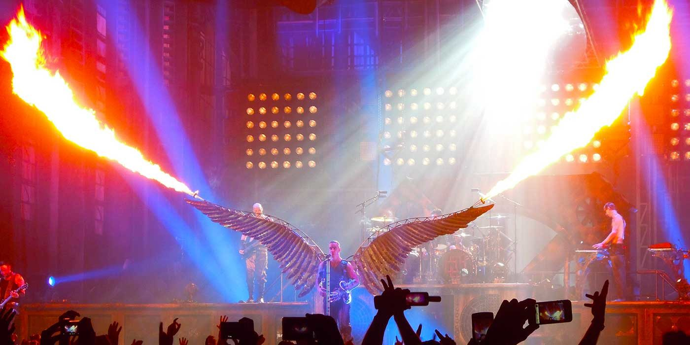 Photo of Rammstein live with the Eagle and flames
