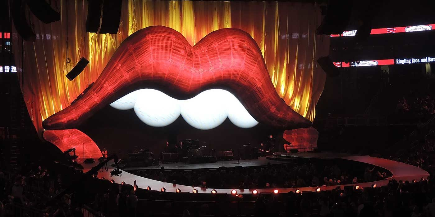 Photo of Rolling Stone's Lips stage