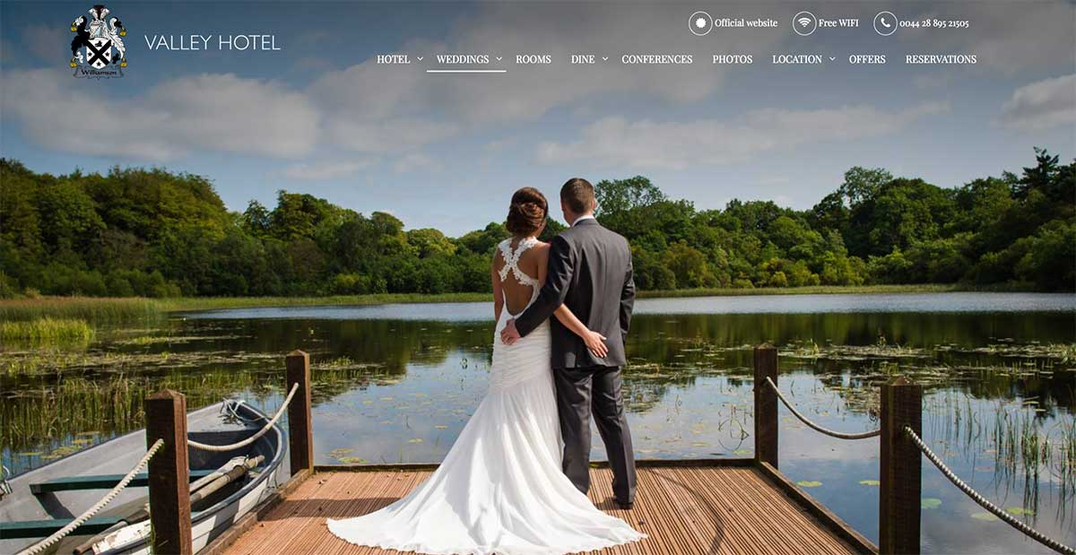 Screenshot of the Valley Hotel and wedding venue Fivemiletown County Tyrone
