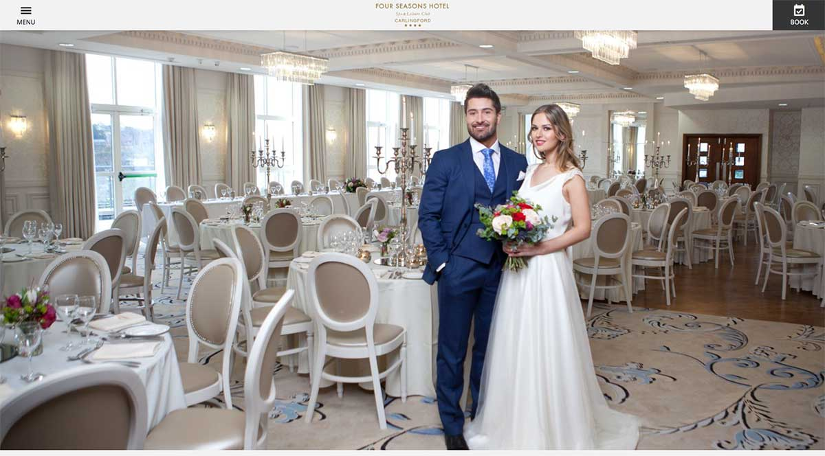 Screenshot of the Four Seasons Hotel and wedding venue Carlingford County Louth website