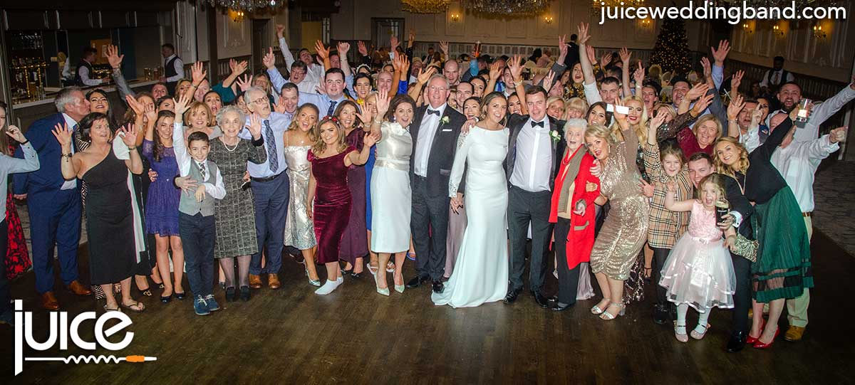 Photo of Lauren, Conor and their wedding guests