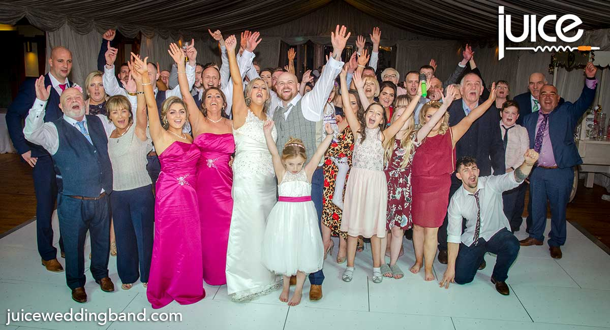 Photo of Sinead, Lee and their wedding guests