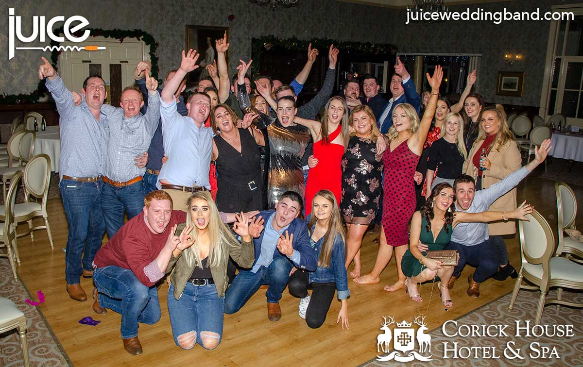 Photo of the guests at the Corick House Christmas party 21st December 2019