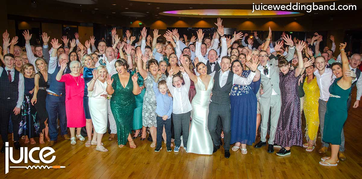 Photo of Colleen, Johnny and their wedding guests