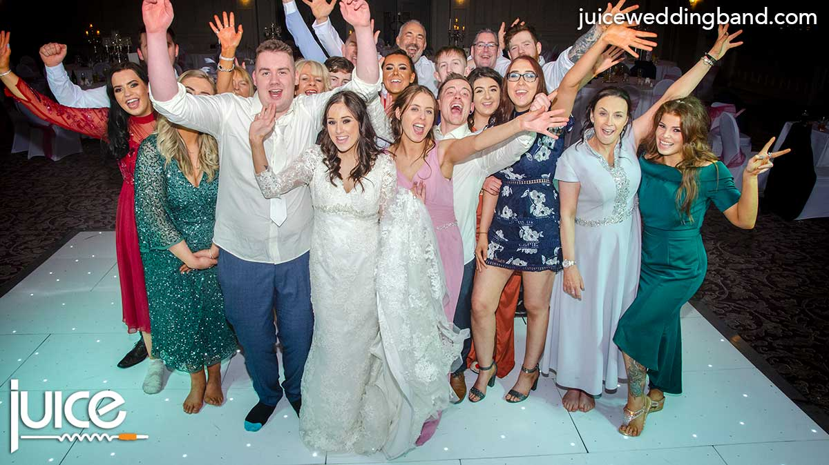 Photo of Paula, Jack and their wedding guests