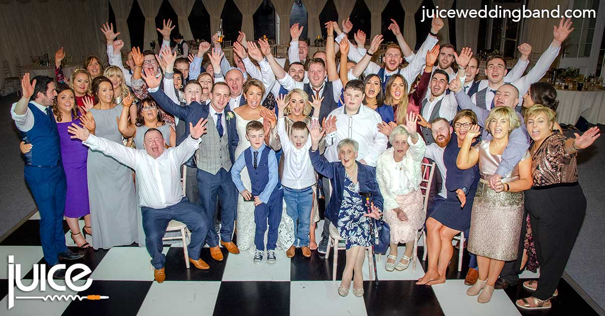 Photo of Grainne, Sean and their wedding guests