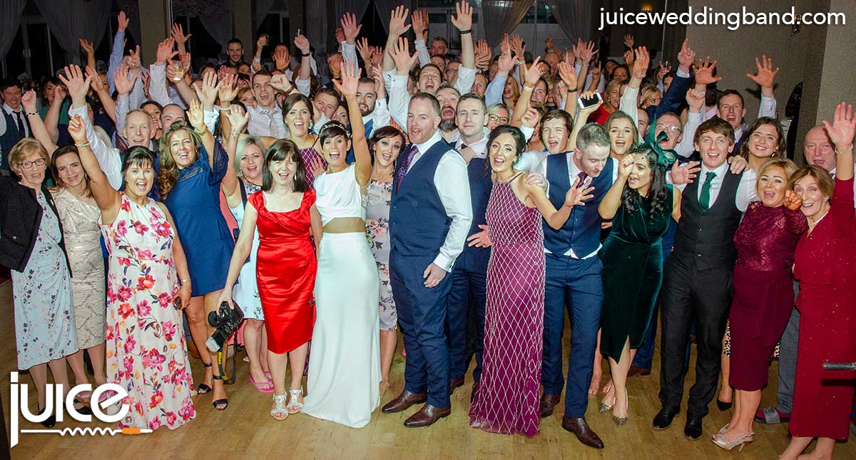 Photo of Anna, Paddy and their wedding guests