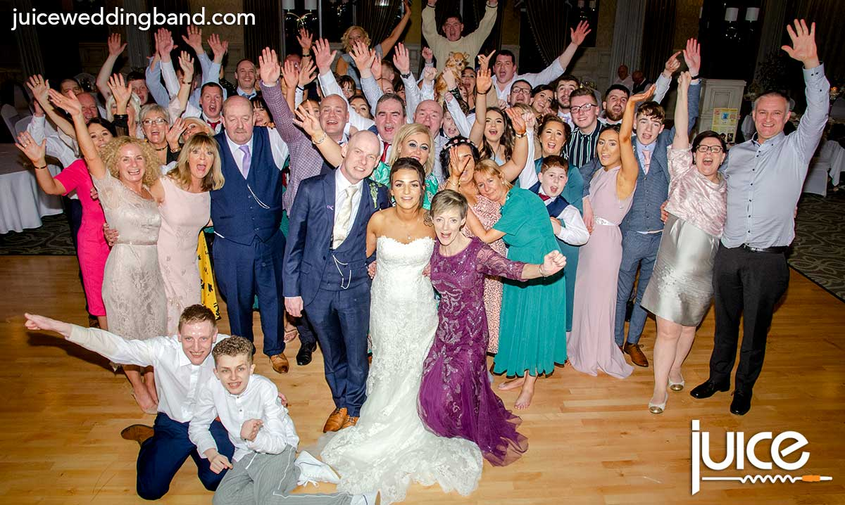 Photo of Brogan, Conor and their wedding guests